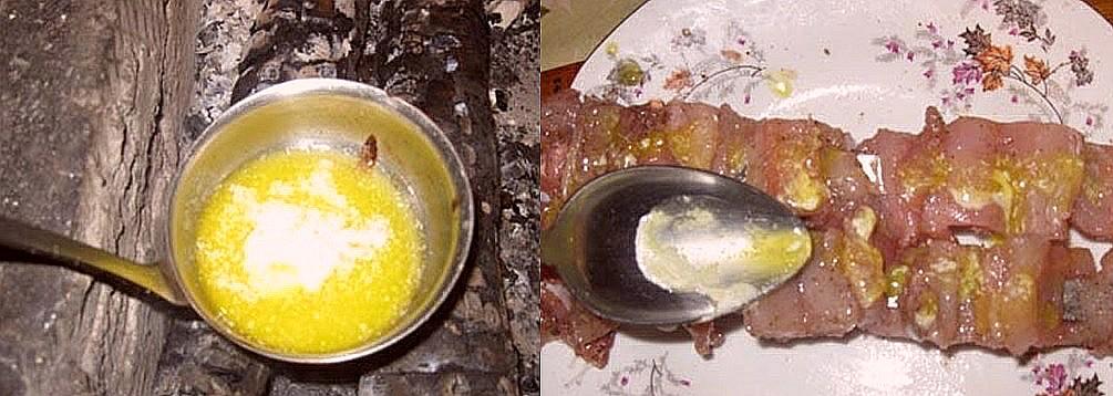 растопить масло и полить щуку