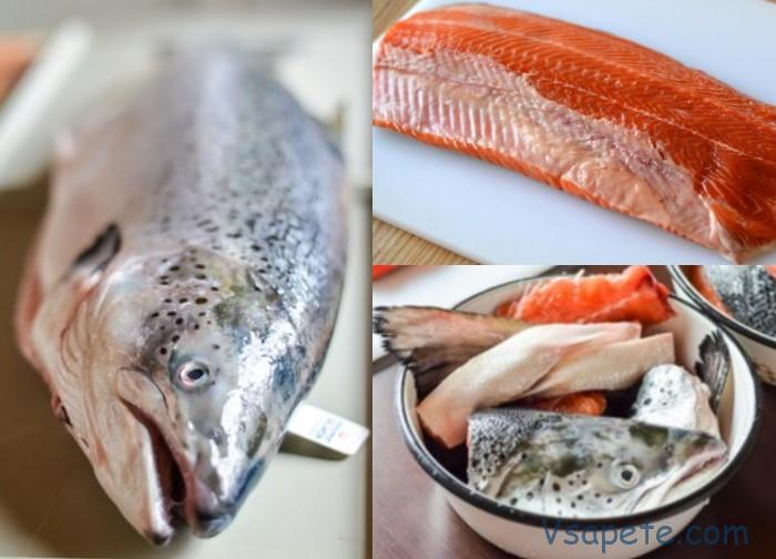 Разделка красной рыбы