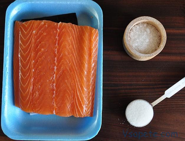 Подготовка к засолке красной рыбы