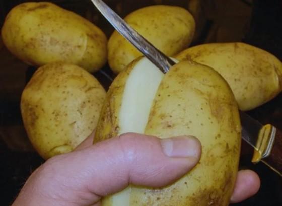 Разрезаем картошку