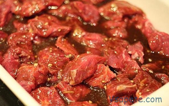 шашлык из баранины в медово-соевом маринаде