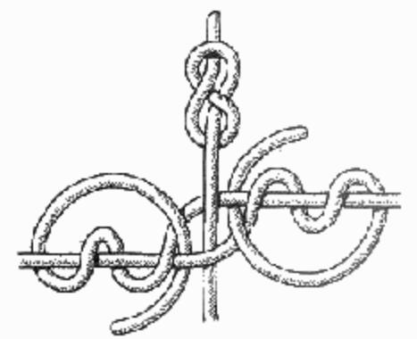 Поводковый узел на основе змеиного узла