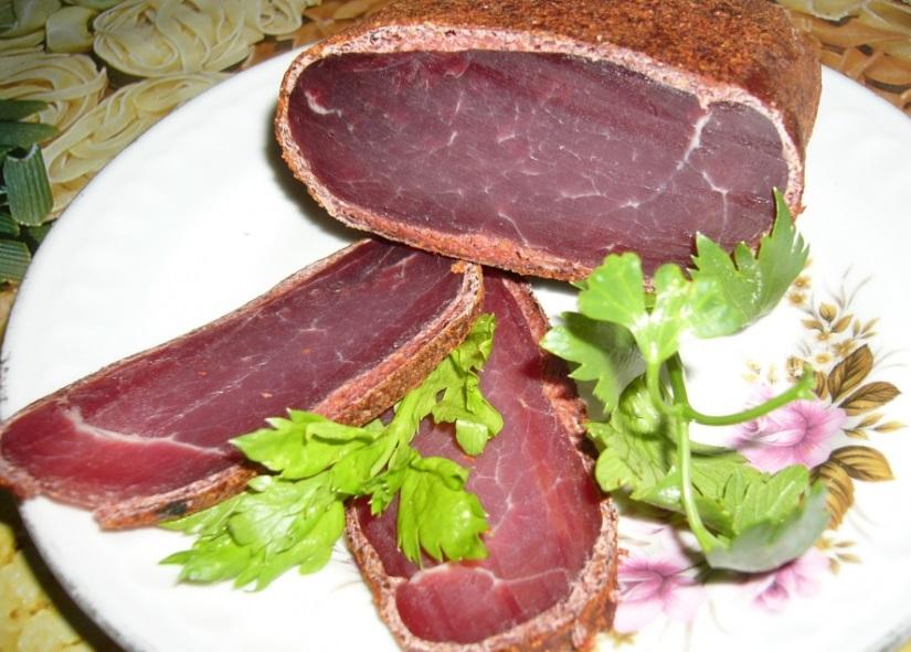 Бастурма из свинины с нитринной солью